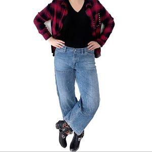 Ralph Lauren Carpenter Utility High Jeans Cropped